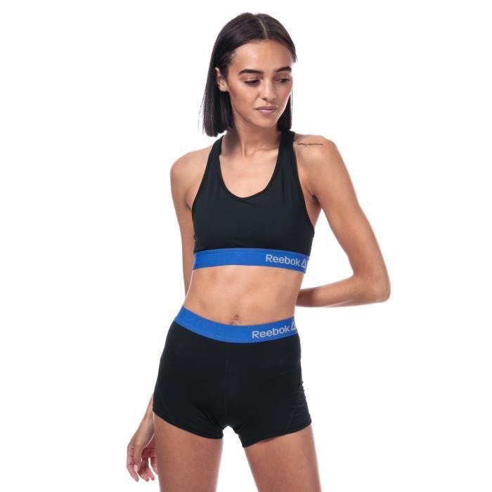 Reebok Short Mya Sports Noir Bleu Femme