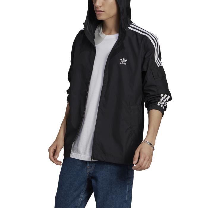 Coupe-Vent pour Homme modele Adicolor Classics 3-Stripes Full-Zip Noir
