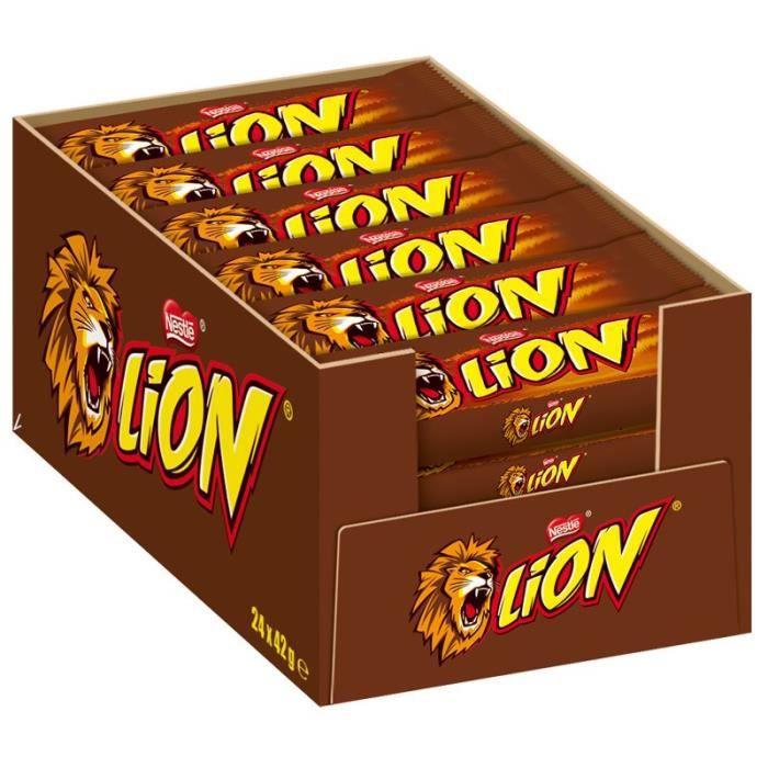 Bars Nestlé Lion, chocolat, 24 Bars