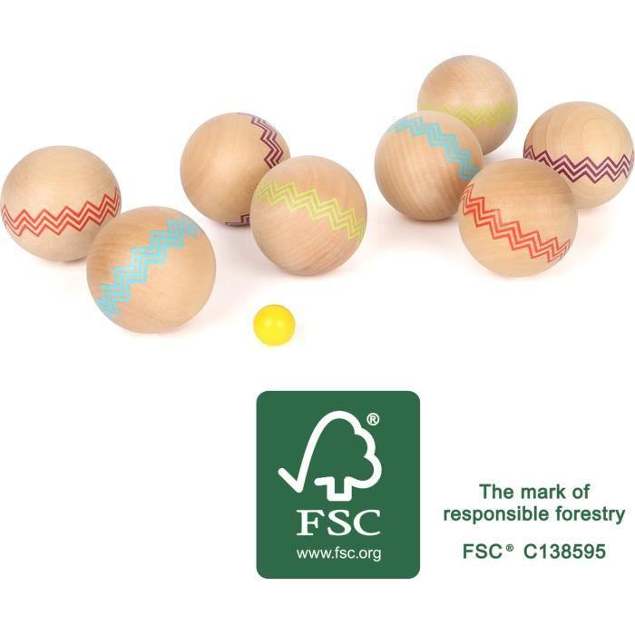Small Foot 12029 Boule Active en Bois certifié FSC 100 % pour Les Enfants à partir de 3 Ans Jeu de Plein air pour Le Jardin ou la