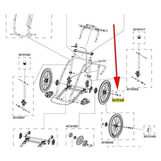 Transporteurs Pièces détachées Thule Axle Cx1 50191306 - Taille Unique - Noir