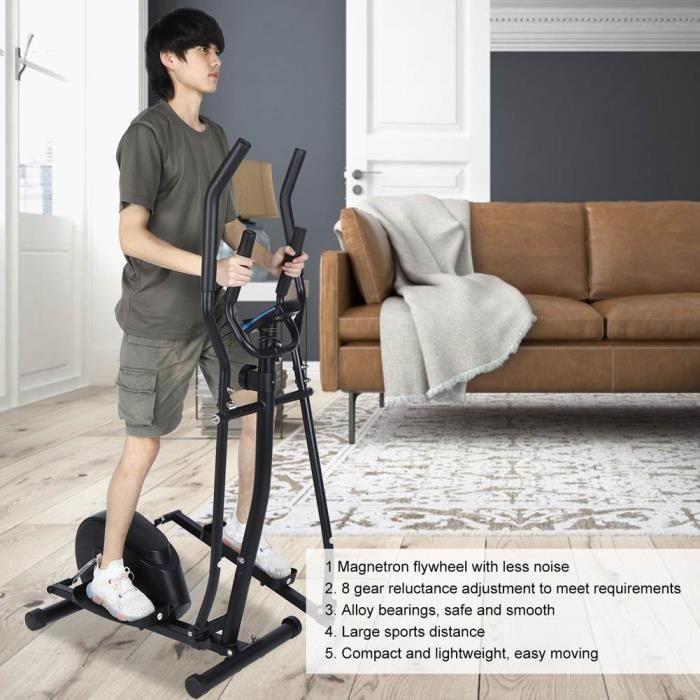 Vélo elliptique avec volant d'inertie,Vélo d'appartement elliptique ergonomique VGEBY