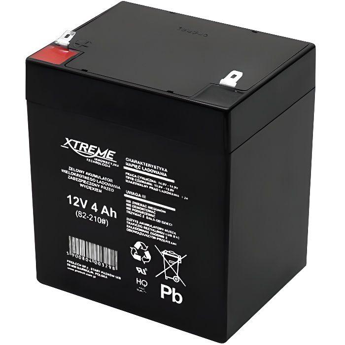 Batterie au gel 12V 4Ah Xtreme motos, quad, jouets, bateaux, caravanes, caisse