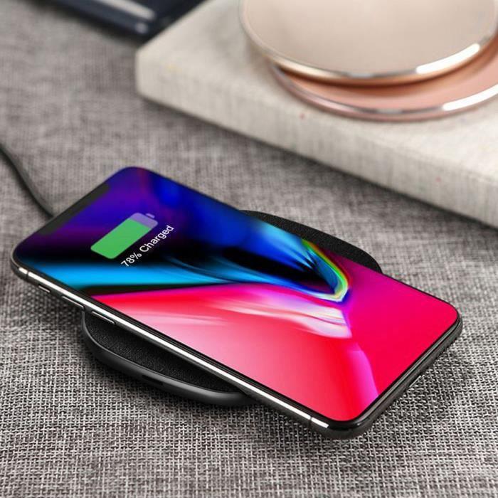 CHARGEUR TÉLÉPHONE chargeur sans fil à indiction rapide --PE