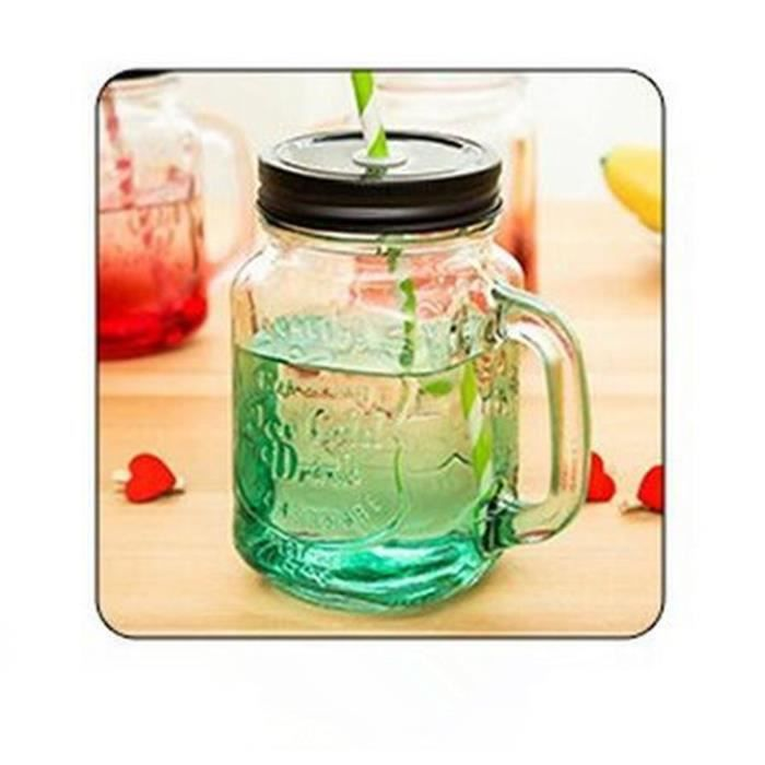 jar en verre avec anse 500 ml mason tasse d gradation avec. Black Bedroom Furniture Sets. Home Design Ideas