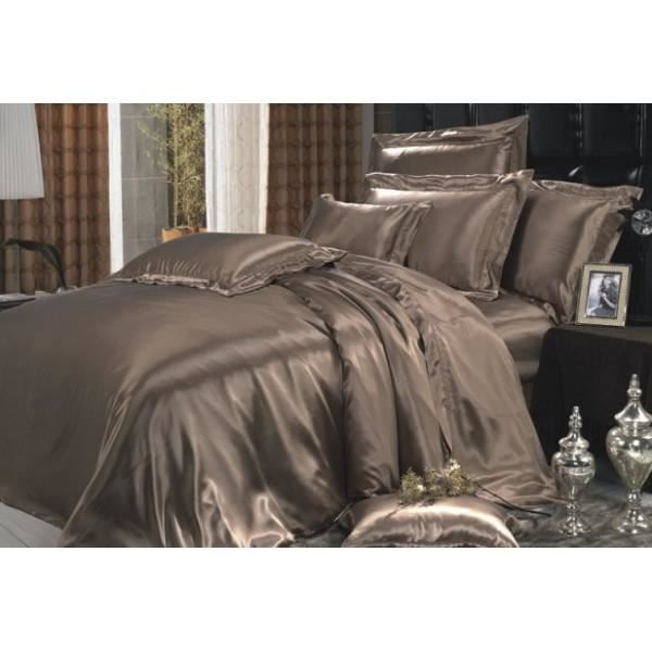 drap housse en soie chocolat 80x200 cm achat vente drap housse cdiscount. Black Bedroom Furniture Sets. Home Design Ideas