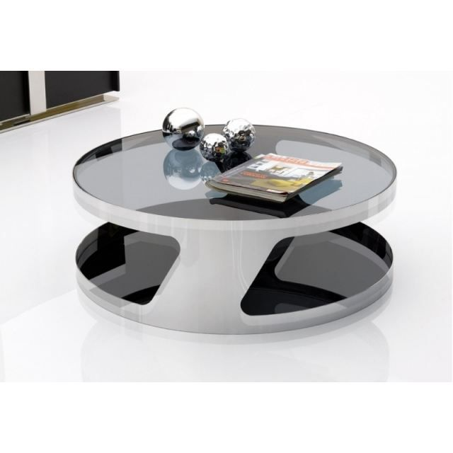 table basse seventy metal verre achat vente table. Black Bedroom Furniture Sets. Home Design Ideas