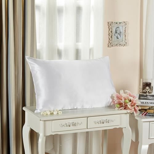 lilysilk lot de 2 taies d 39 oreillers 100 soie sans volant soie 22 momme blanc 50 x 75cm achat. Black Bedroom Furniture Sets. Home Design Ideas