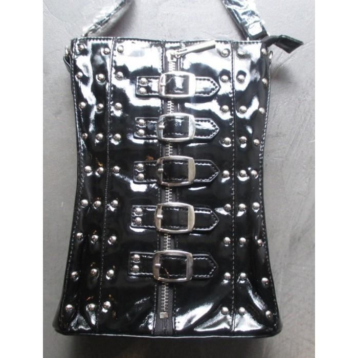 Sac a main corset noir gothique pin up rock roll trash purse - Achat ... 98564b633d0