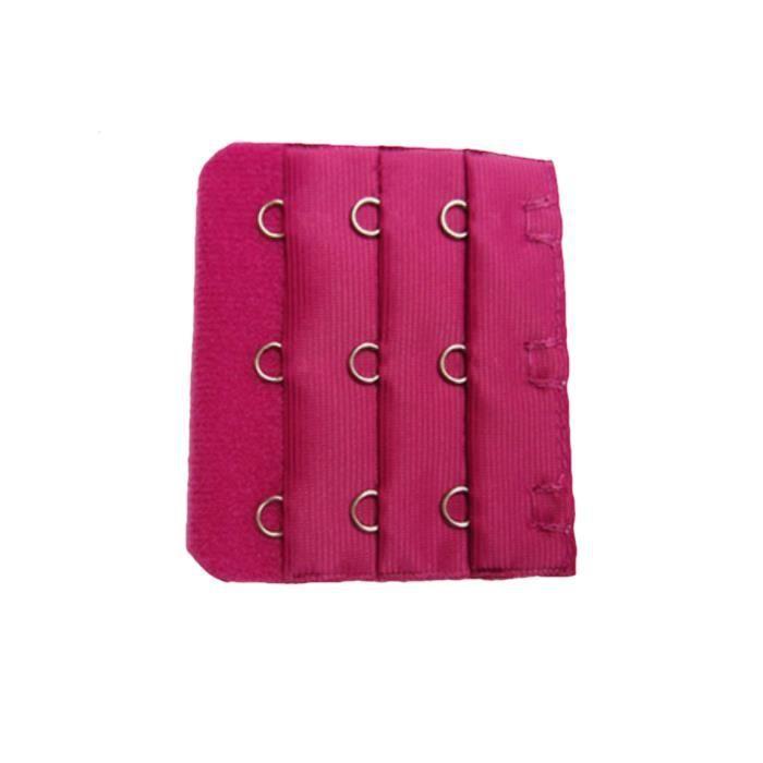 1 Rallonge extension soutien gorge 3 crochets Rose