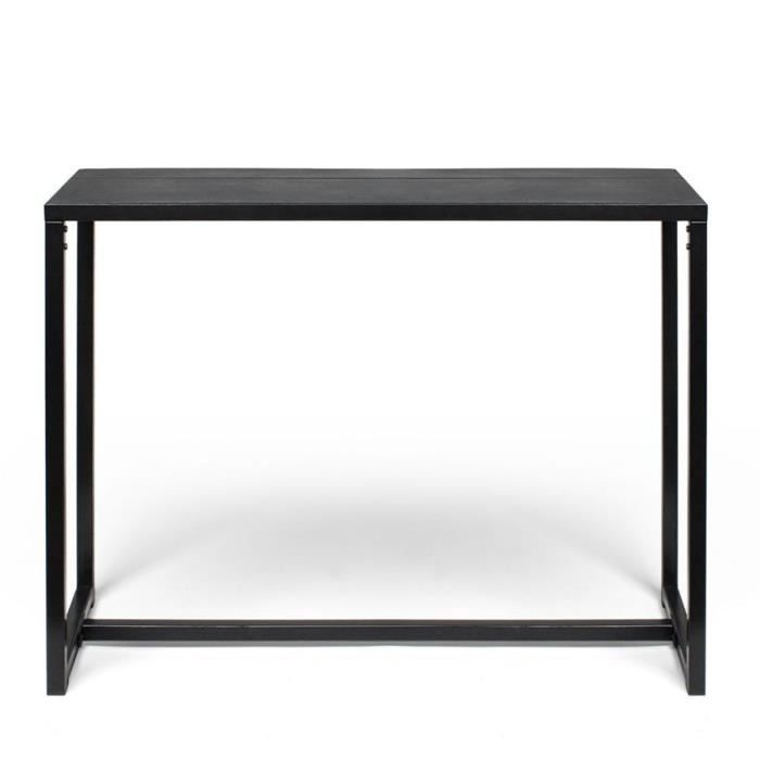 console design m tal et b ton krawl couleur noir achat vente console extensible console. Black Bedroom Furniture Sets. Home Design Ideas