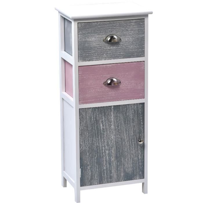 meuble mdf paulownia gris rose lasur achat vente meuble bas commode sdb meuble mdf. Black Bedroom Furniture Sets. Home Design Ideas