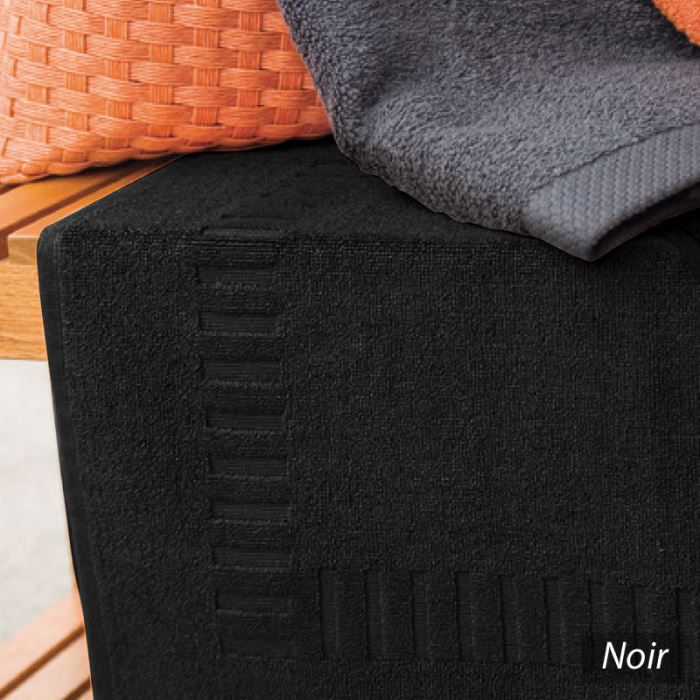 tapis de bain pure noir ponge 50x70cm achat vente tapis de bain cdiscount. Black Bedroom Furniture Sets. Home Design Ideas