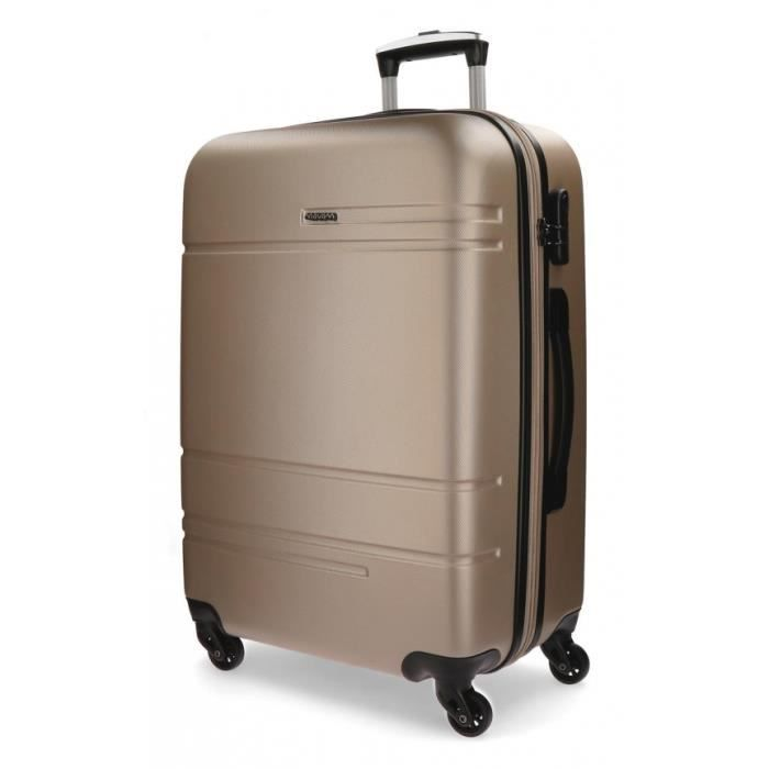 VALISE - BAGAGE Grande valise Movom Galaxy rigide 108L champagne -