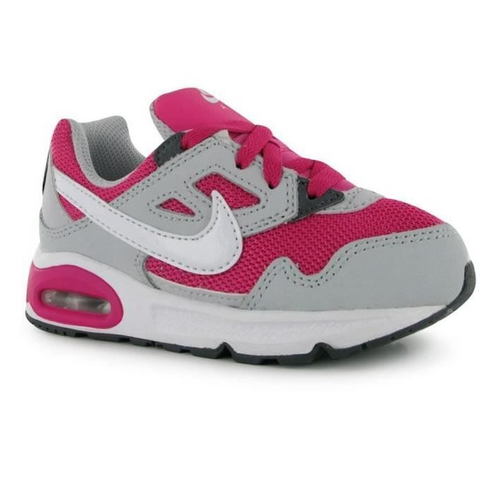 baskets nike air max filles gris gris et rose achat vente basket cdiscount. Black Bedroom Furniture Sets. Home Design Ideas