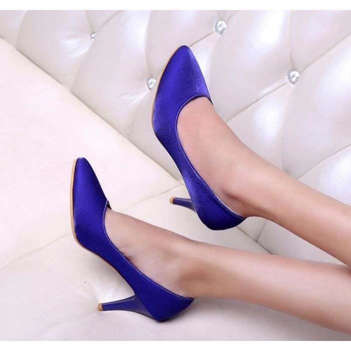 Sexy Pure Color bout pointu chaussures talons h...