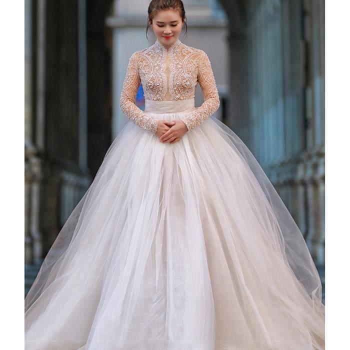 Robe de mariée blanche à la française pour