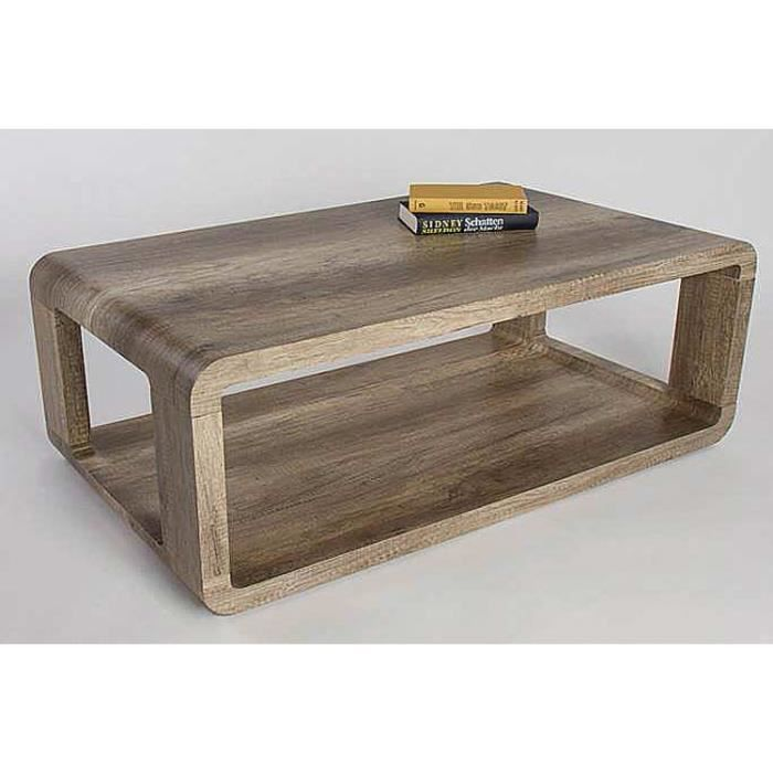 Table basse madach i ch ne sauvage fonc 1050 x 600 x 400 for Table basse et haute a la fois