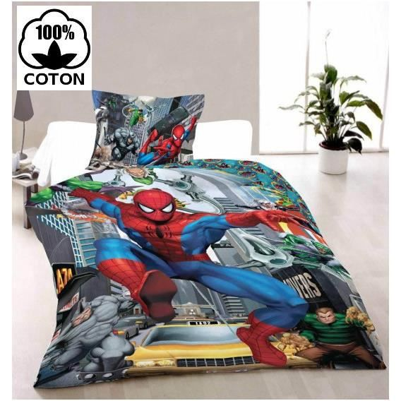 spiderman ultimate parure de lit housse de couette achat vente housse de couette cdiscount. Black Bedroom Furniture Sets. Home Design Ideas