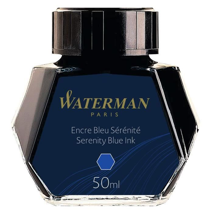 encre waterman bleu flacon de 5cl achat vente stylo parure encre waterman bleu 5cl. Black Bedroom Furniture Sets. Home Design Ideas