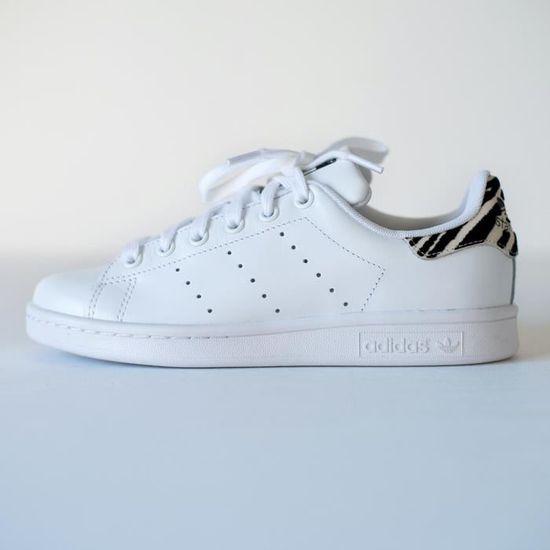 Adidas Stan Smith ZEBRE FEMME blanc Achat Vente basket