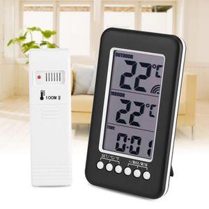 THERMO - HYGROMÈTRE Thermomètre sans fil intérieur et extérieur Capteu