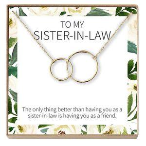 j/'ai acquis Une Soeur Collier Sister In law Collier Quand j/'ai épousé votre frère