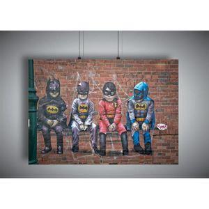 AFFICHE - POSTER Poster STREET ART SUPER HERO ENFANTS GRAFFITI Wall