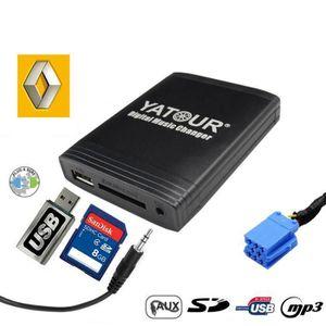 CHARGEUR CD VOITURE Interface usb adaptateur autoradio renault 8pin