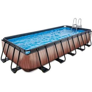 PISCINE EXIT Wood, Piscine hors sol, Rectangle, 12600 L, M