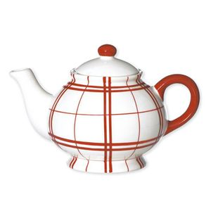 London Pottery 73402 Farmhouse Th/éi/ère en c/éramique avec infuseur Motif feuilles