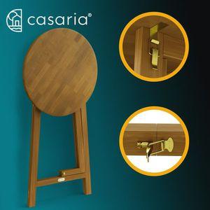 MANGE-DEBOUT Table Haute Pliable en Bois Massif Naturel 110cm H