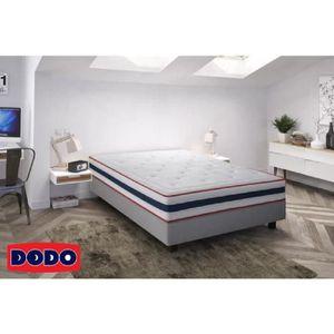 SOMMIER DODO Sommier tapissier en bois massif 160 x 200 cm