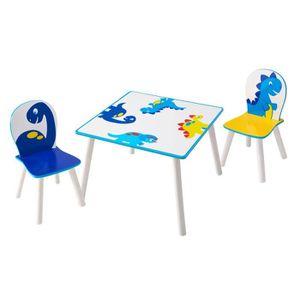 TABLE JOUET D'ACTIVITÉ HELLOHOME Table et deux chaises enfant - motif Din