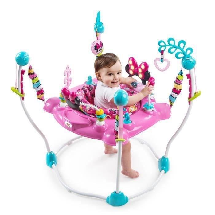 Disney Baby - Minnie Aire d'Éveil à Rebonds avec sons et lumière- Rose