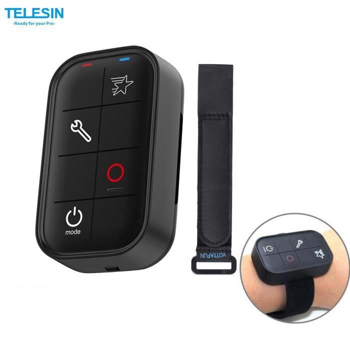 TELESIN Intelligent Wireless Wi-Fi Etanche Télécommande Tout en contrôlant 6 caméras (max.) pour GoPro Hero 4/3+ /Hero 4 Session