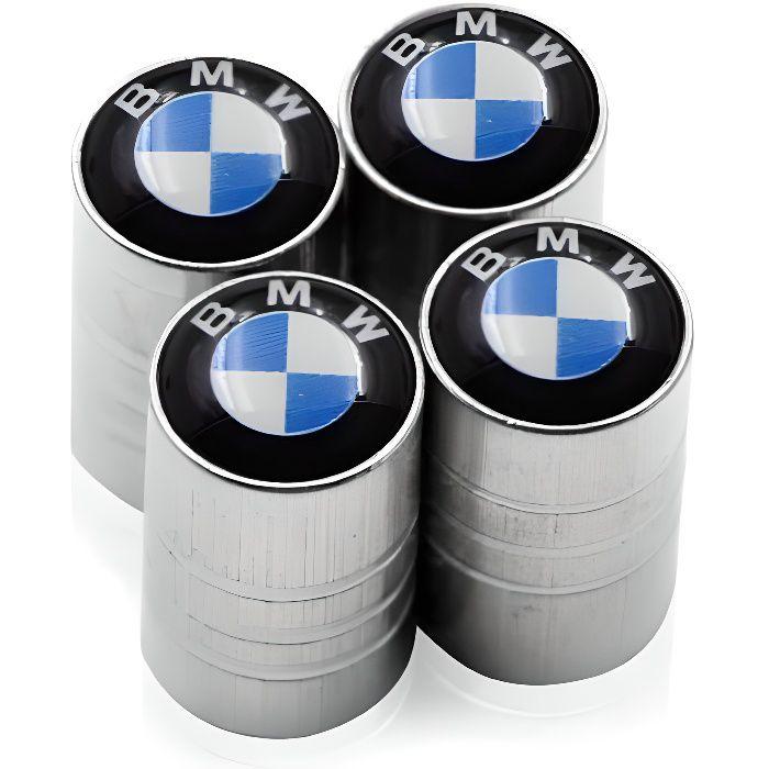 LOT 4 BOUCHON DE VALVE LOGO BMW BLEU BLANC