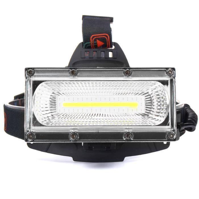 30W 3000LM Lampe Frontale Phare COB LED USB Rechargeable Pr Vélo Torche Portable Avec Batteries Noir