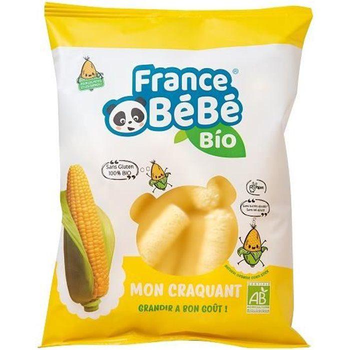 FRANCE BéBé BIO - Stick de maïs soufflé BIO - Mon Craquant - Vegan