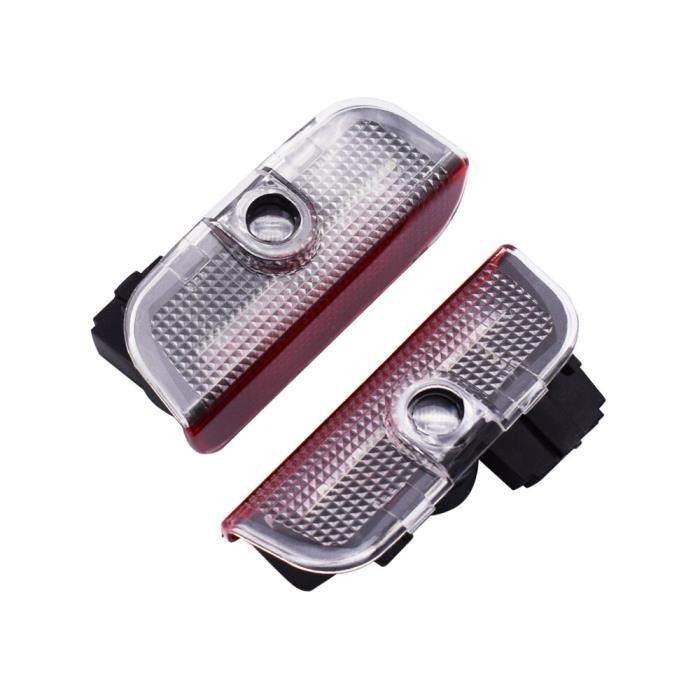 For GTI no cable -Lumière de porte de voiture pour VW Jetta MK5 MK6 MK7 Golf 5 6 7 Passat B6 B7 CC EOS Touareg MAGOTAN, lampe de bie