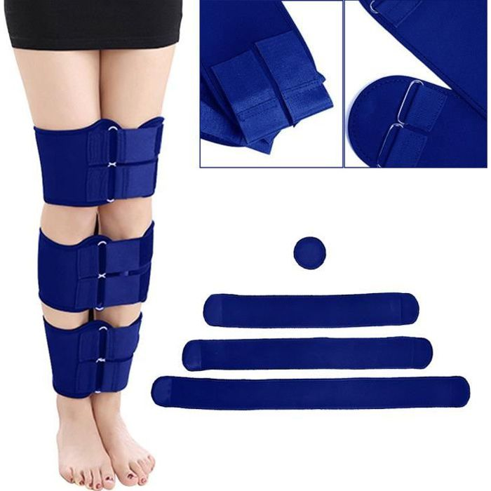 Ceinture de correction de posture 3 pièces - ensemble O - X forme genou jambes arquées bandes de renfort de jambe Straighte