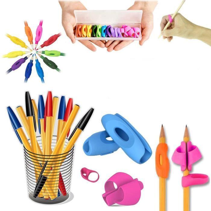Guide Doigt Enfant, Grips pour Crayon Ergonomique Aide Ecriture pour Enfant, Ensemble de 12