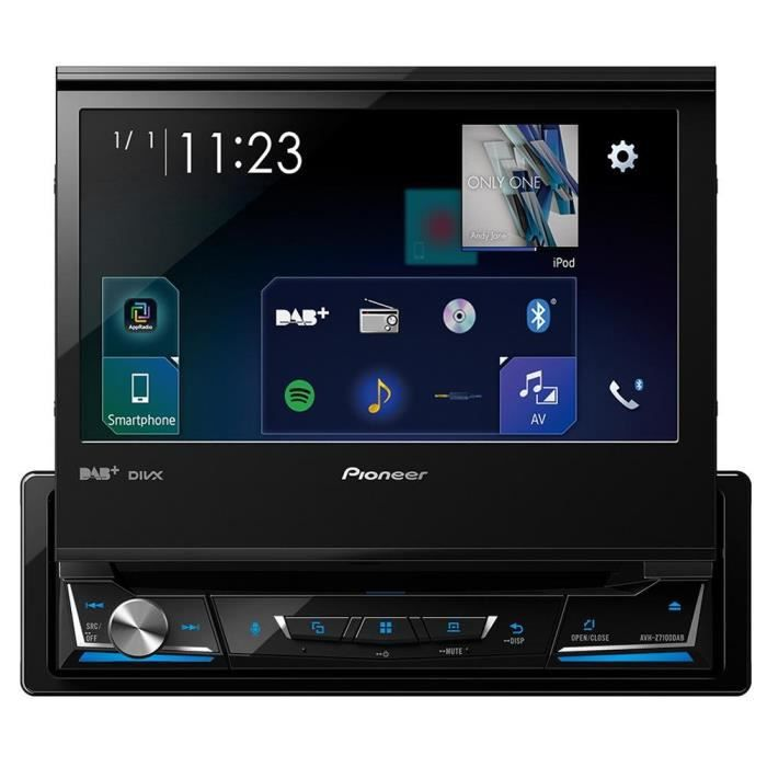 Pioneer Car Multimedia Autoradio USB-DVD-CD-Bluetooth 4 x 50 w Noir