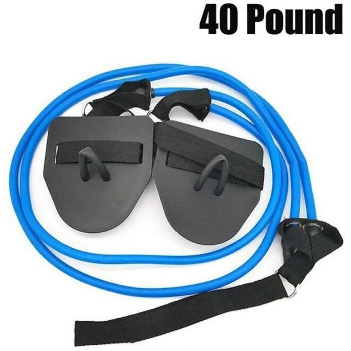 Couleur bleue Roegadyn en bandes de résistance tissu, quatre tubes en gomme, équipement de remise en forme