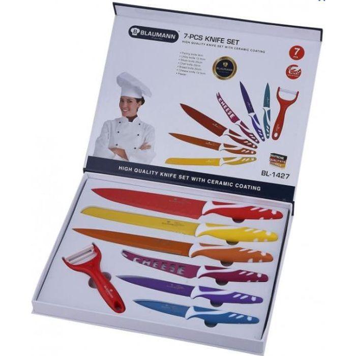 Set de 7 couteaux céramique