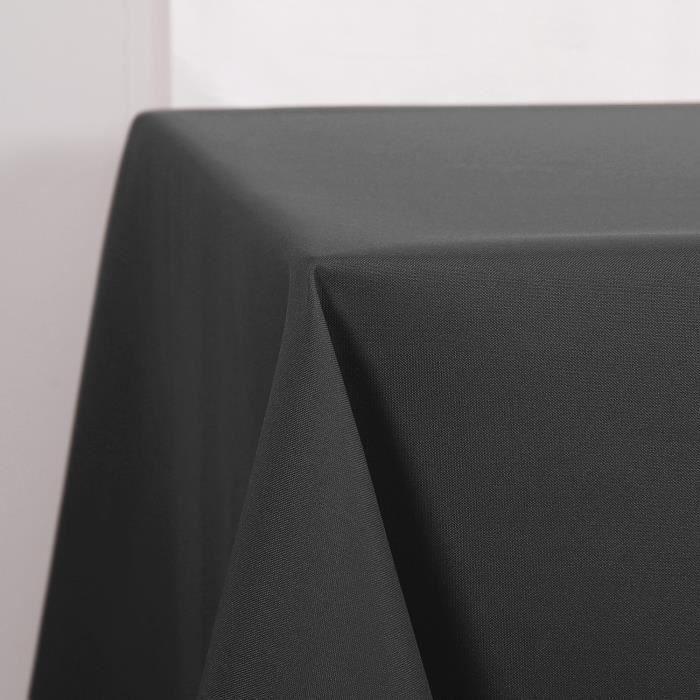Deconovo Nappe Waterproof pour Table Decoration 150x200cm Gris Foncé