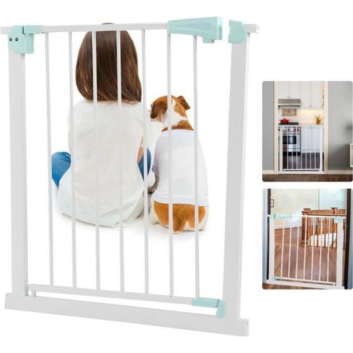 Barrière de sécurité pour animaux de compagnie Clôture de Porte de Sécurité Animaux de Compagnie Enfants pour Escalier -ALA