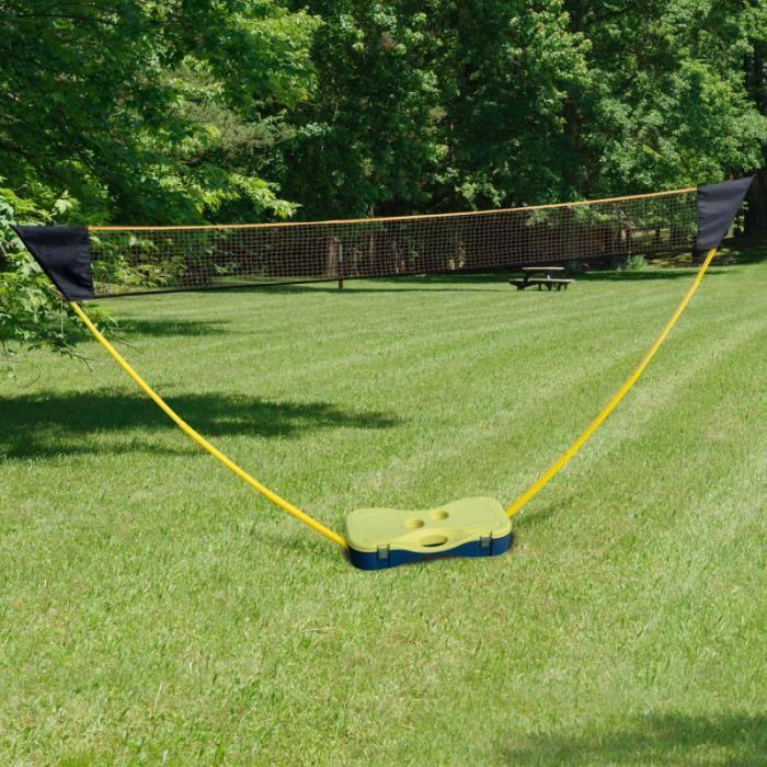 ID MARKET - Filet de badminton avec raquettes et volants 300 cm