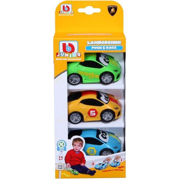 BBURAGO BB JUNIOR - LAMBORGHINI à friction - Pack de 3 véhicules