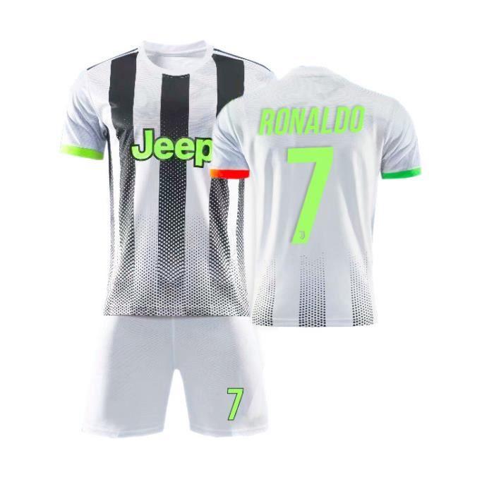 Juventus No. 7 Cristiano Ronaldo Maillot et Shorts de football - Vert fluorescent